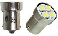 G18.5 4 SMD (size 5050) R10W BA15s 12V светодиод WHITE 0.6W 20lm TM NORD YADA