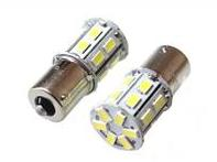 S25 20SMD (size 5730) P21W BA15s светодиод 12V WHITE 2.8W 110lm TM NORD YADA