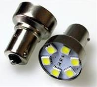 S25 6SMD (size 5050) P21W BA15s светодиод 12V WHITE 0.6W 24lm TM NORD YADA