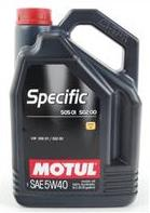 MOTUL SPECIFIC VW 502.00 / 505.00 / 505.01 5W40